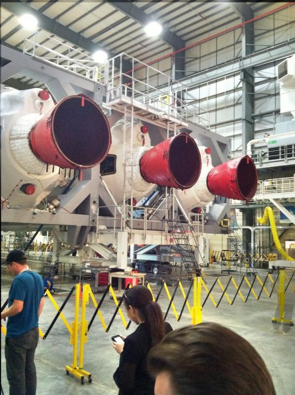 This is known as the Heavy. Over 2 million lbs of thrust. Launch Dec4 - #nasasocial Delta 4 http://t.co/L1kPr2XZeQ