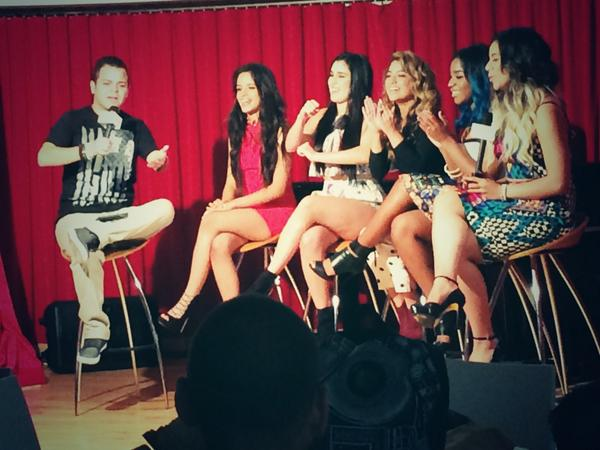 The baes of @FifthHarmony doing press at Sony, love them! #fifthharmony #harmonizers #5hourreflection #5h http://t.co/zAYrzVc93P