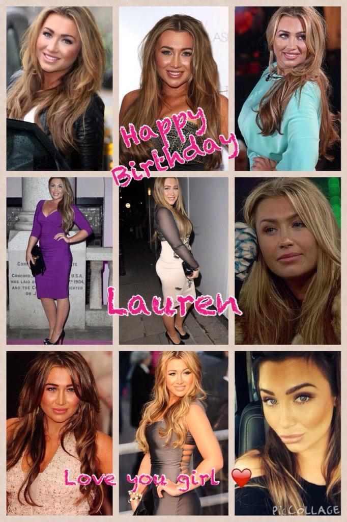 RT @MissRachelleG: @LaurenGoodger Happy Birthday gorgeous.didnt realise u share the same birthday as my son 😃 sorry it's late x Luvya 👭x ht…