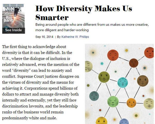 how diversity makes us smarter scientific american - 600×481