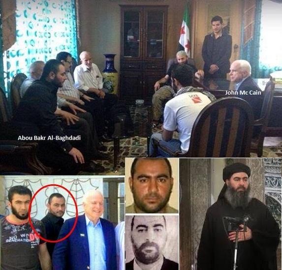 IPOCRISIA, Il male del mondo Il Senatore americano Mc Cain incontra Al Quaeda