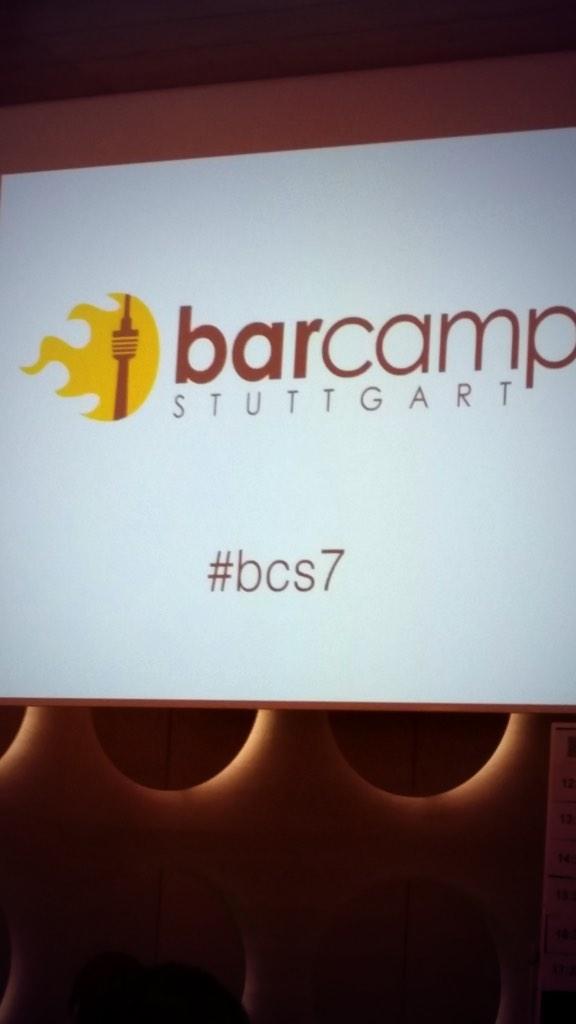 Soeben am barcamp Stuttgart angekommen. Let's drum #bcs7 http://t.co/5v82uVaLP6