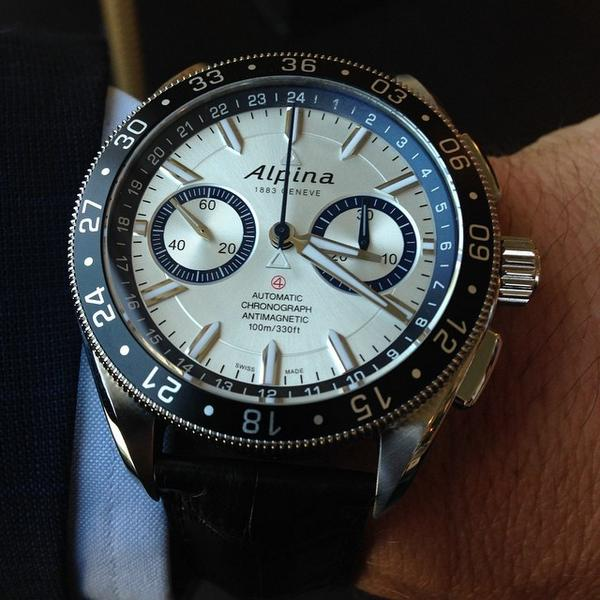 """The Alpiner 4 Chronograph """"Race for Water"""". Limited edition of 400pcs un support of the Race for Water Foundation... http://t.co/C9MUep0sY8"""