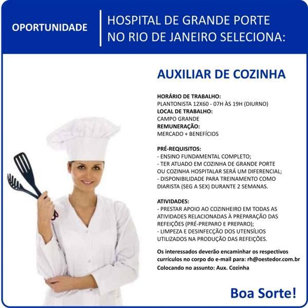 A Rede D'Or tem #vagas para auxiliares de cozinha. Inscreva-se!  #rededor #vagasrededor #compartilhe http://t.co/UqQ6J9atgf