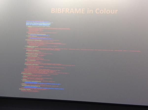 TM Bibframe in colour #cig14 http://t.co/J2AMaM79VA