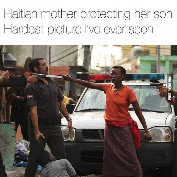 Mother protects her son from cop beating. #protectyourneck http://t.co/2187EGfMwf