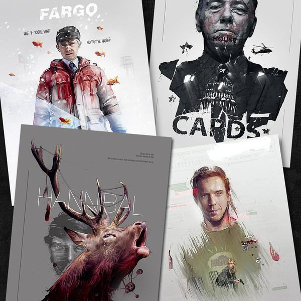 Tv shows posters series 3 are released! Online @ http://t.co/RwADP56G0H #homeland #fargo #houseofcards #hannibal http://t.co/jaXExjC6zf