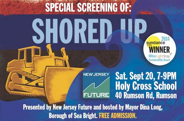 New Jersey Future and @seabrightmayor are hosting a FREE screening of Shored Up on 9/20. http://t.co/49ukBqJVmK http://t.co/1rsKMXrSgI