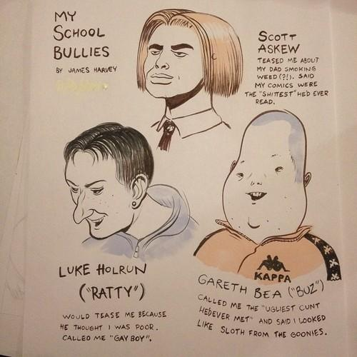 Draw your bullies has so got to become a thing! By @jamesharveytm http://t.co/e2Td3a1dTE