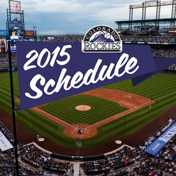 "Colorado Rockies Schedule: Colorado Rockies On Twitter: ""So With Next Year's #Rockies"