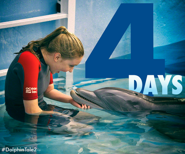 We're only 4 days away! Pre-order your tickets here: http://t.co/ik5PWfNnYM #DolphinTale2 #WinterHasHope http://t.co/1oG13JaorT