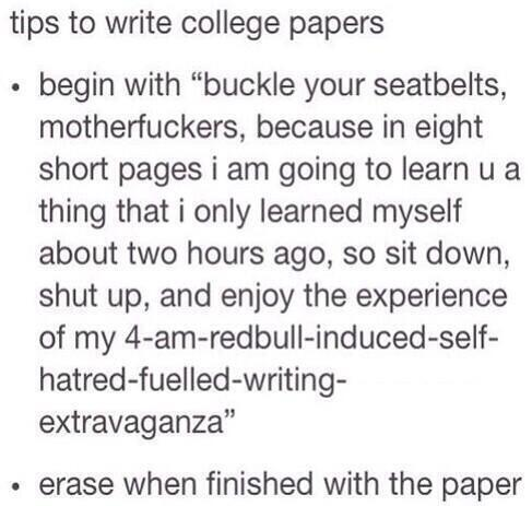 myself essay for college