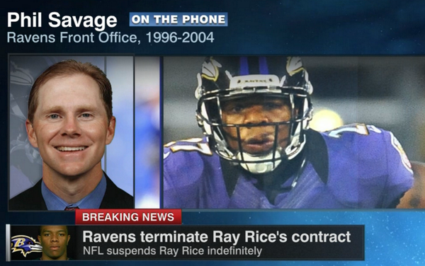 """I don't see another team touching him right now or in the future""   Former Ravens GM Phil Savage on Ray Rice http://t.co/bTRM1lUjFP"