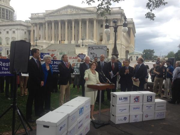 Sen. Amy Klobuchar: Americans want to see democracy. They're tired of gridlock. #GetMoneyOut http://t.co/Alx8WMZRI7