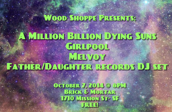 Wood Shoppe Oct 7 line up here :) http://t.co/nTz8NZvFV3