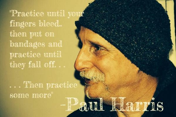 """""""Practice until your fingers bleed, then put on bandages and practice until they fall off... """"  -Paul Harris  #Magic http://t.co/t1oUJPZeaS"""