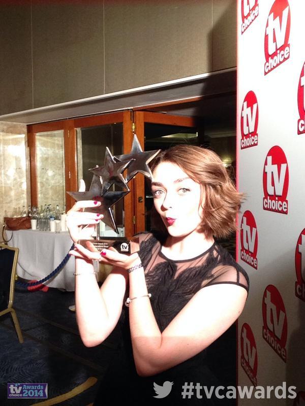 Best International Show goes to @skyatlantic's #GameOfThrones #GoT. Here's @maisie_williams with award #tvcawards http://t.co/qMeJMCKErj