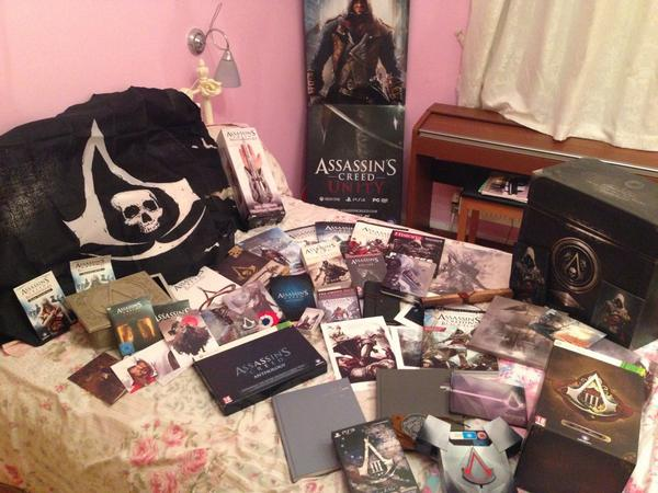 My main collection, clothing, figuirines and other personal @assassinscreed items :) I have my face on an assassin! http://t.co/wTREhqxT0j