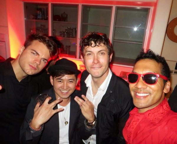 Thx for coming to our @DigitalLA #Streamys after party! @GOLDENthe24k @limswrld @TobyTurner http://t.co/bF6iKqgroh