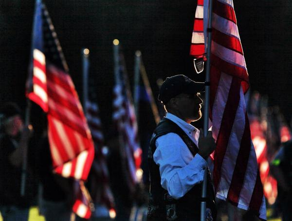 Patriot Guard continue to stand at sunset at Officer Pierson's calling hours in Greece #rpd #roc #rip http://t.co/A6215dDzJr