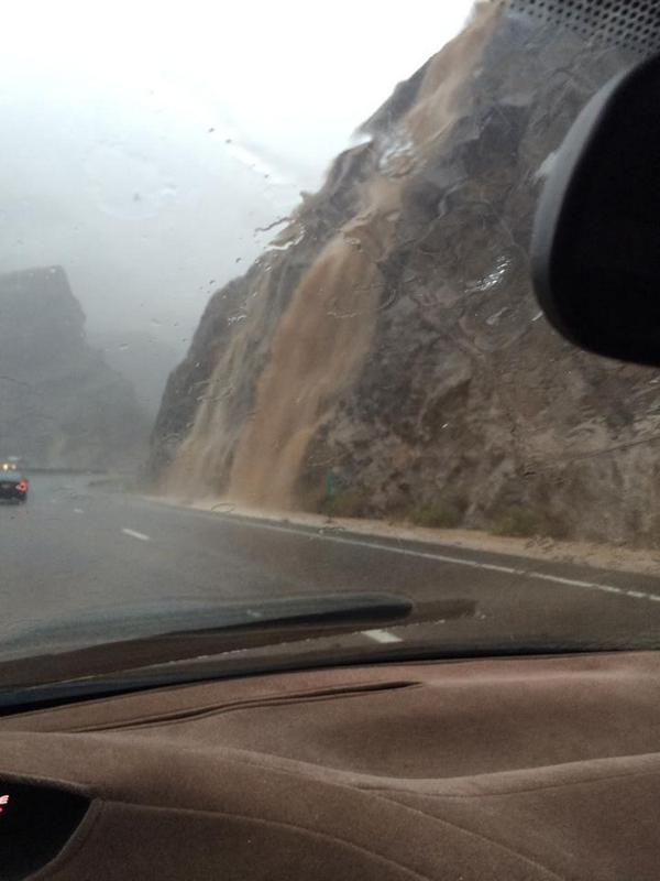 Thanks to Sammie Freer Terry for sending us this photo of the Virgin River Gorge flooding. #utwx #waterfall http://t.co/WsNDePTMZo