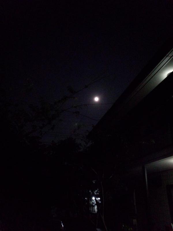 (*^-^*)ありがとうございます。 RT @vivikazuko0152: @ja8yum スマホで撮ったスーパームーン小さく見えますがとても神々しく光を放っています(*^_^*)希望を持って進んで下さい(^_^)v http://t.co/MnEy4spJBS