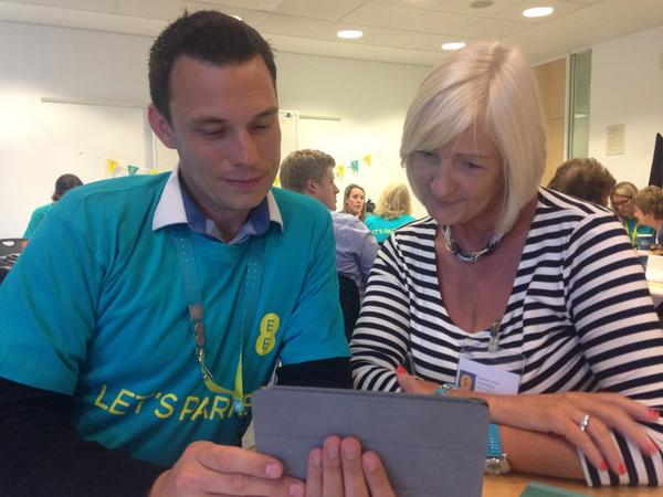 @nickturner1883 in action at the @EE #TechyTeaParty Bristol http://t.co/SqPBXpSKW5