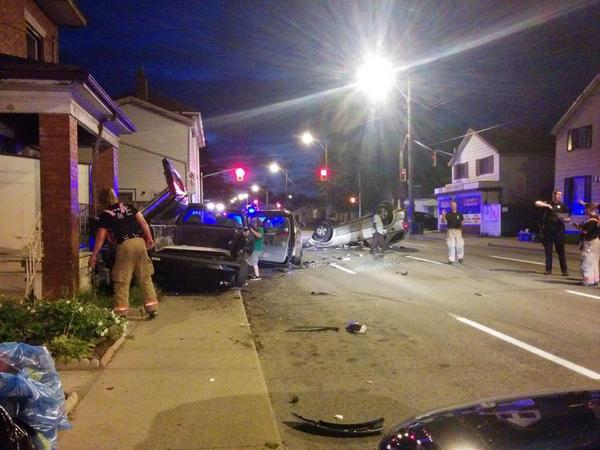 September 2014 collision on Wilson Steet near Steven Street (Image Credit: Joey Coleman)