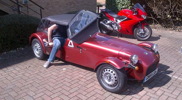 Learning To Live With Our Caterham Seven 160 Lesson 1 Getting In Out Dignity Intact