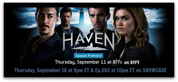 WELCOME BACK to the #HAVEN 'hood @EmilyroseLA @TheLucasBryant @ERICBALFOUR @EdgeRatedR Hope your hiatus was happy! http://t.co/XNcqdftQJw