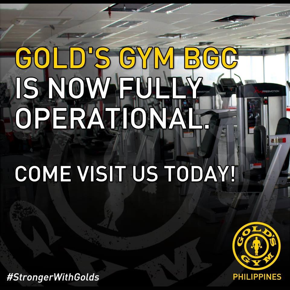 "goldsgymphilippines on twitter: ""gold's gym bgc is now open in full"