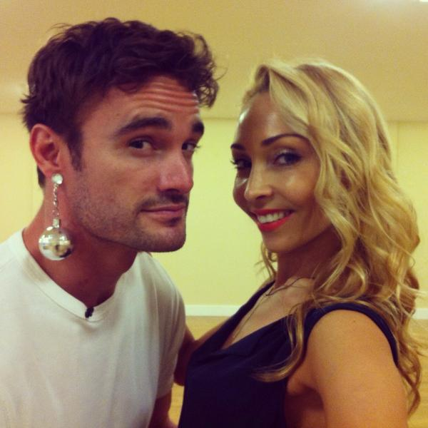 @ThomEvans11 has been officially Strictlyfied :-))) @bbcstrictly #SCD2014 #SCD http://t.co/i2WwPQLPCI