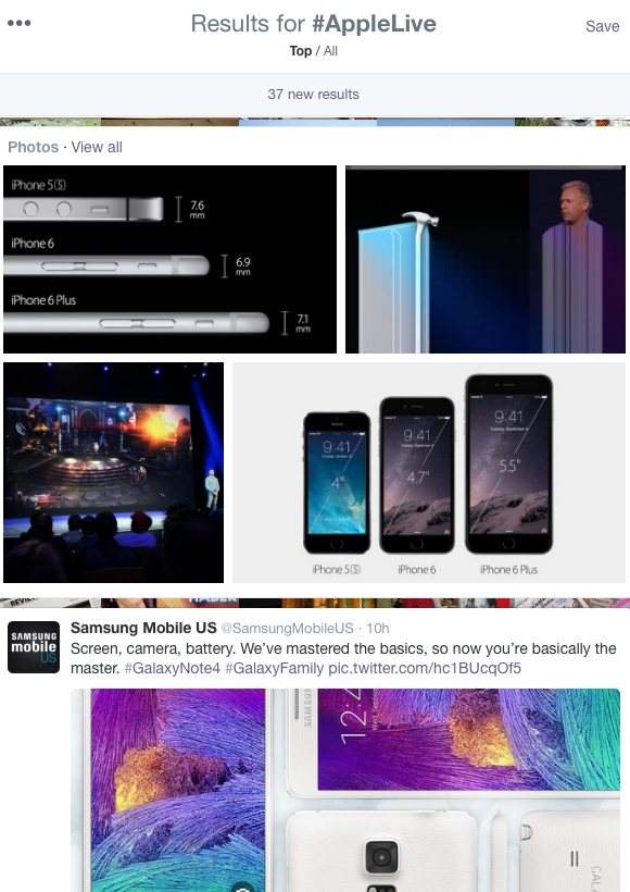 Samsung's promoted tweet at top of #applelive results? What kind of #sportsmanship is that. http://t.co/zXpxRn2Ou7