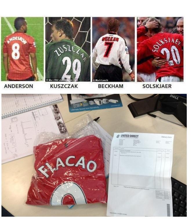 МЮ пустил в продажу футболки Фалькао с ошибкой в фамилии - изображение 2