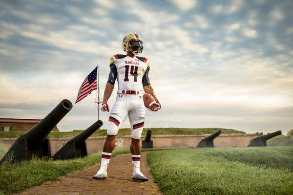 Sat. @MarylandPride gears up in Honor of the 200th Anniv. of the Star Spangled Banner. @UnderArmour #GoTerps #TeamUA http://t.co/NSHkAUTH4g