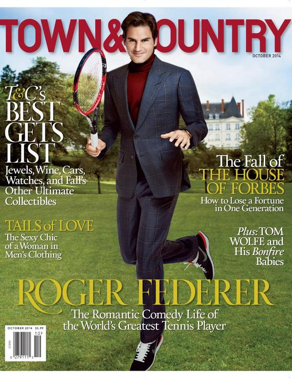Introducing our October cover star: tennis great @rogerfederer! http://t.co/AhUg1k9AsR @rogerfederernow http://t.co/292ZTvWNt8