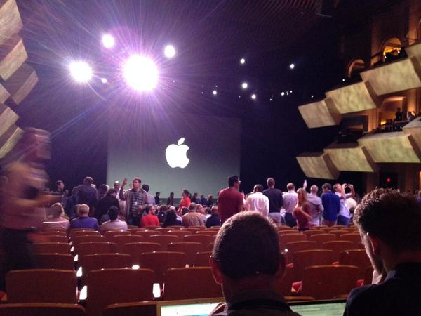 Inside Apple. Seating isn't the usual free for all. Much more controlled. http://t.co/IrjWbXiftO