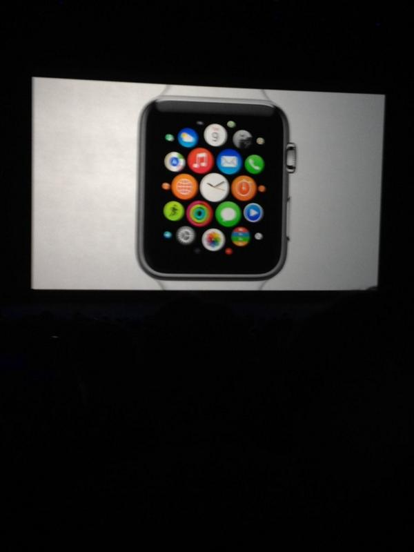 Home screen, with apps, of the Apple Watch. #AppleWatch #AppleEvent http://t.co/BgtP7vT3E8