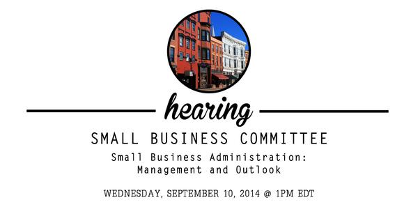 Tomorrow we hear from the Administrator of the @SBAgov, Maria Conteras-Sweet http://t.co/RHLk1c0aQn #pjnet http://t.co/q7dmLwQKSA