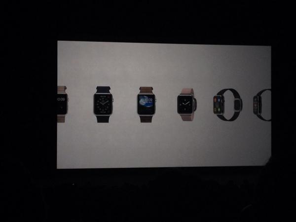 Apple Watch will come with either leather strap, sports band or stainless steel bracelet. #AppleWatch #AppleEvent http://t.co/mIMpYxlweR