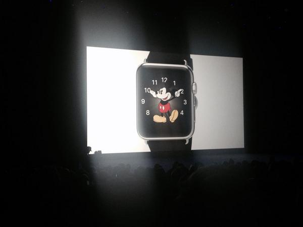 Spotted: Mickey Mouse #Applewatch #applelive http://t.co/yEIaWJOBBi