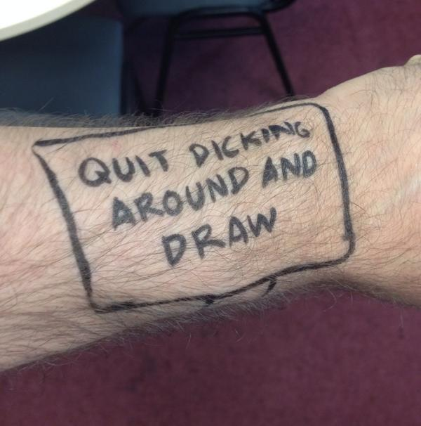 Hey comics! I bought you an iWatch. http://t.co/CZZA668v4i