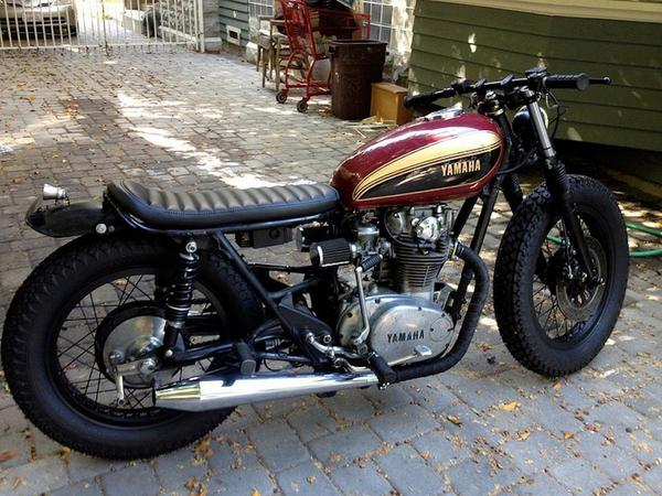 CafeRacerUK Love This BRAT 77 XS650 Yamaha Pictwitter HfKfVXHzGg Bratstyle