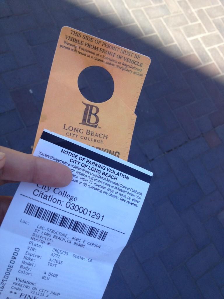 "lbcc parking permit lorena melissa on Twitter: ""Fuck you @LBCCVikingNews @lbcc for ..."