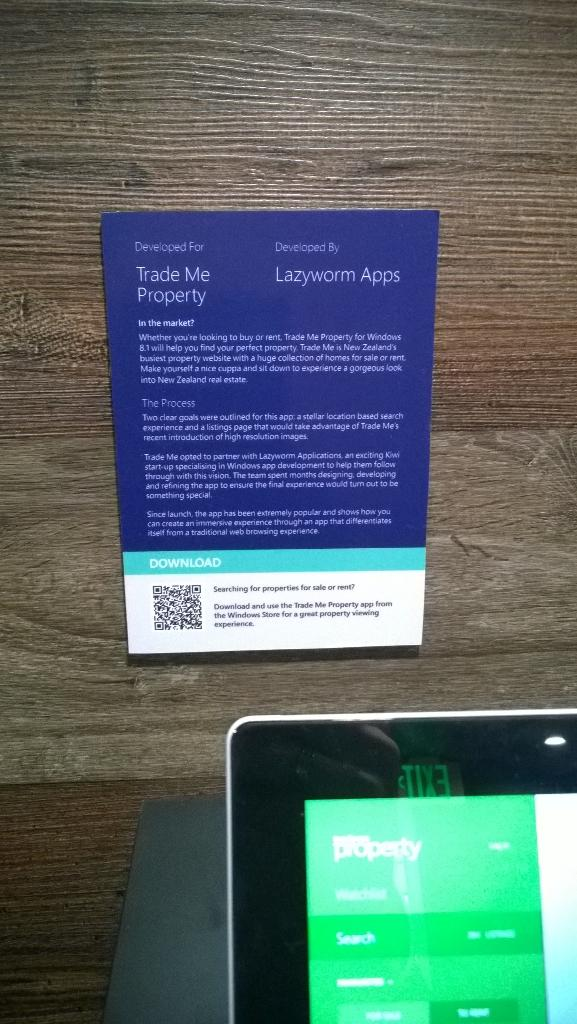 Our work on Trade Me Property for Windows 8.1 showcased at #tenz! http://t.co/Qd9EKYossf