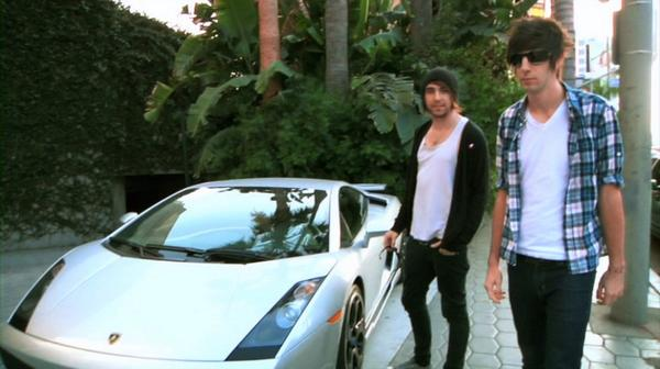 photo of Alex Gaskarth Lamborghini - car