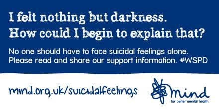 Today is World Suicide Prevention Day, please do read and share our information: http://t.co/T96hrHqRM2 #WSPD14 http://t.co/S5iHhC6wPm