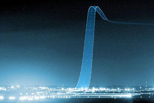 깜박이는 등을 켜고 이륙하는 비행기의 모습을 긴 시간동안 노출하여 얻은 사진 http://t.co/jrWh7vS617