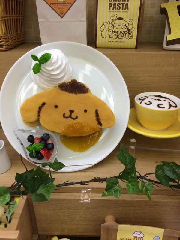 ポムポムプリンも可愛かった。大阪でカフェやるみたい♩ http://t.co/J7fNStZrj9