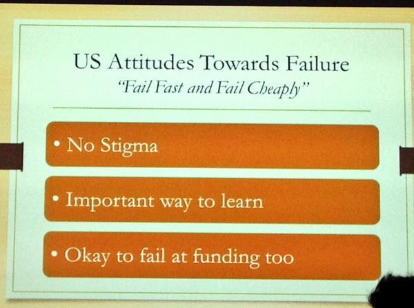 "RT @schwarzd: ""Fail Fast and Fail Cheaply"" Keynote by @AmbSuzi at #TEDxBern http://t.co/SWribTcAHn"